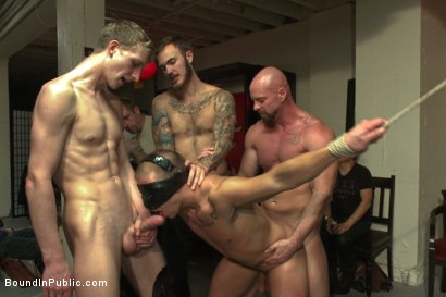 Photo number 14 from Hot art thief with a big cock beaten and fucked into submission shot for Bound in Public on Kink.com. Featuring Eli Hunter, Mitch Vaughn and Christian Wilde in hardcore BDSM & Fetish porn.