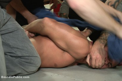 Photo number 1 from Hot art thief with a big cock beaten and fucked into submission shot for Bound in Public on Kink.com. Featuring Eli Hunter, Mitch Vaughn and Christian Wilde in hardcore BDSM & Fetish porn.