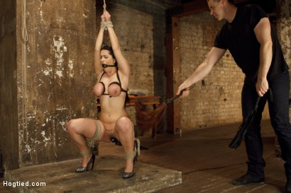 Photo number 7 from Introducing Double H All Natural Tits Katrina Jade shot for Hogtied on Kink.com. Featuring Katrina Jade in hardcore BDSM & Fetish porn.