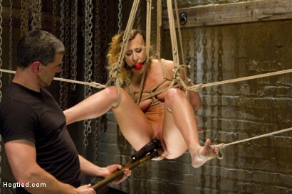 Photo number 11 from Hot Bondage Babe in Brutal Bondage Predicaments shot for Hogtied on Kink.com. Featuring Andre Shakti in hardcore BDSM & Fetish porn.