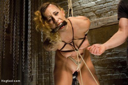 Photo number 13 from Hot Bondage Babe in Brutal Bondage Predicaments shot for Hogtied on Kink.com. Featuring Andre Shakti in hardcore BDSM & Fetish porn.