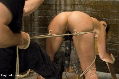 Photo number 6 from Hot Bondage Babe in Brutal Bondage Predicaments shot for Hogtied on Kink.com. Featuring Andre Shakti in hardcore BDSM & Fetish porn.