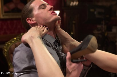 Photo number 15 from Two sexy foot maids tease, fuck and footjob their boss! shot for Foot Worship on Kink.com. Featuring Mona Wales, Bella Rossi and Kip Johnson in hardcore BDSM & Fetish porn.