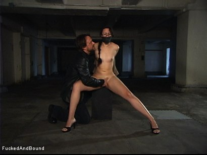 Photo number 3 from First Ever On-Camera Fucking shot for  on Kink.com. Featuring Penny Barber and Kurt Lockwood in hardcore BDSM & Fetish porn.