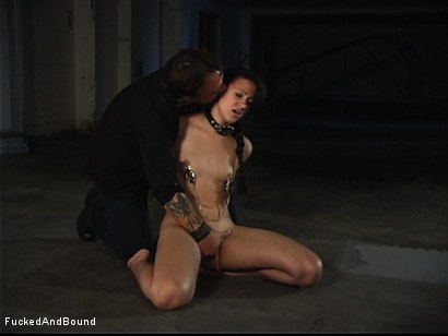 Photo number 5 from First Ever On-Camera Fucking shot for  on Kink.com. Featuring Penny Barber and Kurt Lockwood in hardcore BDSM & Fetish porn.