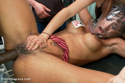 Photo number 11 from Lexington Steele Drags His New Whore to an Interracial Fuck Fest!  shot for Public Disgrace on Kink.com. Featuring Lexington Steele and Sadie Santana in hardcore BDSM & Fetish porn.