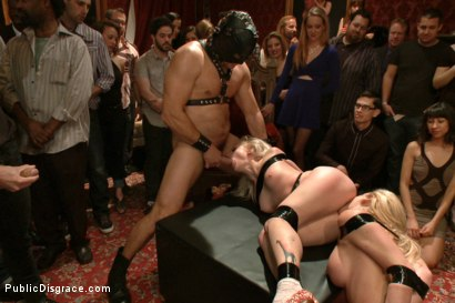 Photo number 9 from Happy Birthday Princess! Enjoy your presents! (part 1) shot for Public Disgrace on Kink.com. Featuring Ramon Nomar, Elyssa Greene, Cherie Deville and Maitresse Madeline Marlowe in hardcore BDSM & Fetish porn.