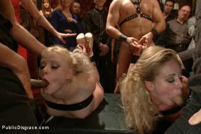 Photo number 12 from Happy Birthday Princess! Enjoy your presents! (part 1) shot for Public Disgrace on Kink.com. Featuring Ramon Nomar, Elyssa Greene, Cherie Deville and Maitresse Madeline Marlowe in hardcore BDSM & Fetish porn.