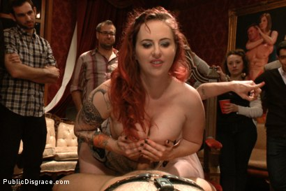 Photo number 7 from Birthday party for the Princess pt.2 shot for Public Disgrace on Kink.com. Featuring Ramon Nomar, Elyssa Greene, Cherie Deville and Maitresse Madeline Marlowe in hardcore BDSM & Fetish porn.