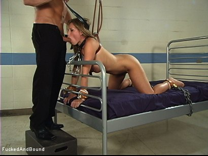 Photo number 13 from Painful Pleasure Of Her Predicament shot for Fucked and Bound on Kink.com. Featuring Devon Lee and Marcus London in hardcore BDSM & Fetish porn.