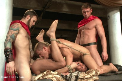 Photo number 12 from Roman Gladiator Live Show - Part One  shot for Bound Gods on Kink.com. Featuring Van Darkholme, Connor Maguire, Connor Patricks, Alex Adams and Christian Wilde in hardcore BDSM & Fetish porn.