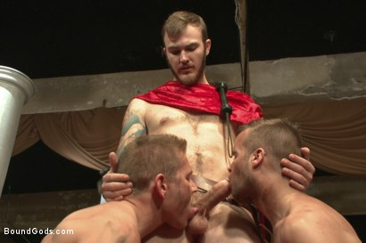 Photo number 2 from Roman Gladiator Live Show - Part One  shot for Bound Gods on Kink.com. Featuring Van Darkholme, Connor Maguire, Connor Patricks, Alex Adams and Christian Wilde in hardcore BDSM & Fetish porn.