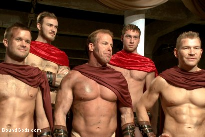Photo number 15 from Roman Gladiator Live Show - Part One  shot for Bound Gods on Kink.com. Featuring Van Darkholme, Connor Maguire, Connor Patricks, Alex Adams and Christian Wilde in hardcore BDSM & Fetish porn.