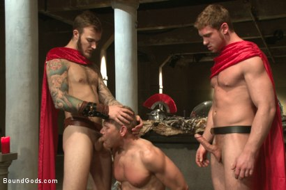 Photo number 5 from Roman Gladiator Live Show - Part One  shot for Bound Gods on Kink.com. Featuring Van Darkholme, Connor Maguire, Connor Patricks, Alex Adams and Christian Wilde in hardcore BDSM & Fetish porn.