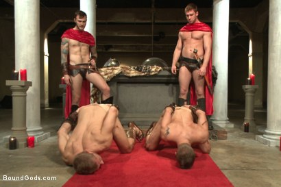Photo number 1 from Roman Gladiator Live Show - Part One  shot for Bound Gods on Kink.com. Featuring Van Darkholme, Connor Maguire, Connor Patricks, Alex Adams and Christian Wilde in hardcore BDSM & Fetish porn.