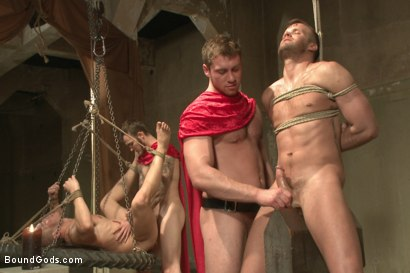 Photo number 11 from Roman Gladiator Live Show - Part One  shot for Bound Gods on Kink.com. Featuring Van Darkholme, Connor Maguire, Connor Patricks, Alex Adams and Christian Wilde in hardcore BDSM & Fetish porn.
