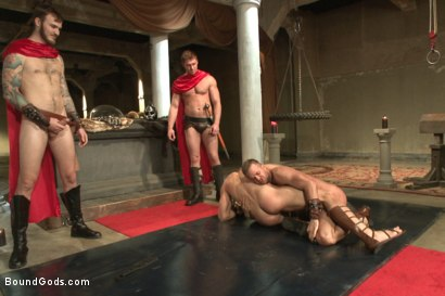 Photo number 6 from Roman Gladiator Live Show - Part One  shot for Bound Gods on Kink.com. Featuring Van Darkholme, Connor Maguire, Connor Patricks, Alex Adams and Christian Wilde in hardcore BDSM & Fetish porn.