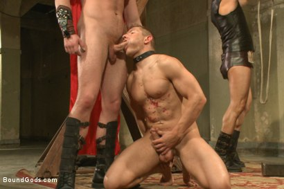Photo number 3 from Connorligula - Roman Gladiator Live Show - Part Two shot for Bound Gods on Kink.com. Featuring Van Darkholme, Connor Maguire, Connor Patricks, Alex Adams and Derek Pain in hardcore BDSM & Fetish porn.