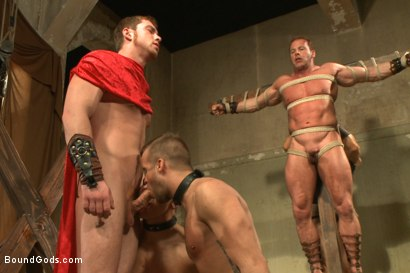 Photo number 5 from Connorligula - Roman Gladiator Live Show - Part Two shot for Bound Gods on Kink.com. Featuring Van Darkholme, Connor Maguire, Connor Patricks, Alex Adams and Derek Pain in hardcore BDSM & Fetish porn.