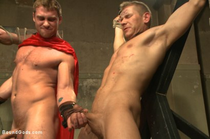 Photo number 7 from Connorligula - Roman Gladiator Live Show - Part Two shot for Bound Gods on Kink.com. Featuring Van Darkholme, Connor Maguire, Connor Patricks, Alex Adams and Derek Pain in hardcore BDSM & Fetish porn.