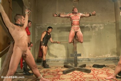 Photo number 8 from Connorligula - Roman Gladiator Live Show - Part Two shot for Bound Gods on Kink.com. Featuring Van Darkholme, Connor Maguire, Connor Patricks, Alex Adams and Derek Pain in hardcore BDSM & Fetish porn.