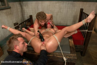 Photo number 12 from Sadistic Security Guards Fuck Sexy MILF in the Armory shot for Sex And Submission on Kink.com. Featuring Bill Bailey, Michael Vegas and Simone Sonay in hardcore BDSM & Fetish porn.