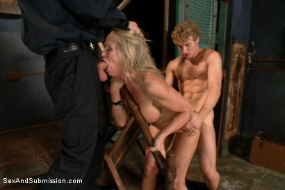 Photo number 5 from Sadistic Security Guards Fuck Sexy MILF in the Armory shot for Sex And Submission on Kink.com. Featuring Bill Bailey, Michael Vegas and Simone Sonay in hardcore BDSM & Fetish porn.
