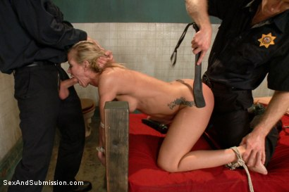 Photo number 7 from Sadistic Security Guards Fuck Sexy MILF in the Armory shot for Sex And Submission on Kink.com. Featuring Bill Bailey, Michael Vegas and Simone Sonay in hardcore BDSM & Fetish porn.