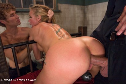 Photo number 8 from Sadistic Security Guards Fuck Sexy MILF in the Armory shot for Sex And Submission on Kink.com. Featuring Bill Bailey, Michael Vegas and Simone Sonay in hardcore BDSM & Fetish porn.