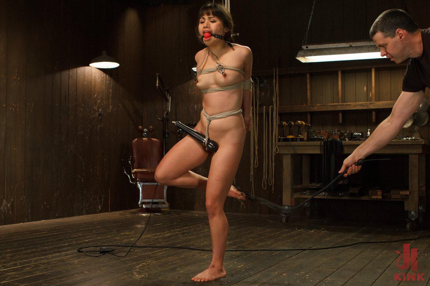 Photo number 11 from Hot Babe Tormented in Hard Bondage shot for Hogtied on Kink.com. Featuring Milcah Halili in hardcore BDSM & Fetish porn.