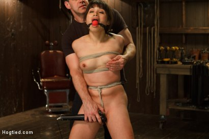 Photo number 12 from Hot Babe Tormented in Hard Bondage shot for Hogtied on Kink.com. Featuring Milcah Halili in hardcore BDSM & Fetish porn.