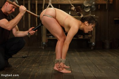 Photo number 9 from Hot Babe Tormented in Hard Bondage shot for Hogtied on Kink.com. Featuring Milcah Halili in hardcore BDSM & Fetish porn.
