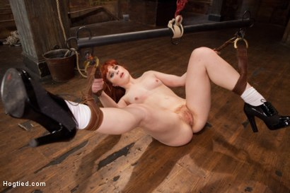 Photo number 8 from 18 Year Old Redhead Slut Fucked Silly in Tight Bondage shot for Hogtied on Kink.com. Featuring Sadie Kennedy in hardcore BDSM & Fetish porn.