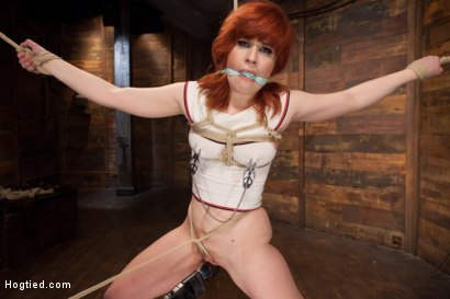 Photo number 2 from 18 Year Old Redhead Slut Fucked Silly in Tight Bondage shot for Hogtied on Kink.com. Featuring Sadie Kennedy in hardcore BDSM & Fetish porn.