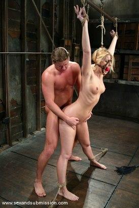 Photo number 5 from Alex Sanders and Hollie Stevens shot for Sex And Submission on Kink.com. Featuring Alex Sanders and Hollie Stevens in hardcore BDSM & Fetish porn.