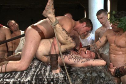 Photo number 5 from When in Rome, torture and gang bang! shot for Bound in Public on Kink.com. Featuring Kip Johnson, Trenton Ducati, Seth Santoro and Connor Maguire in hardcore BDSM & Fetish porn.