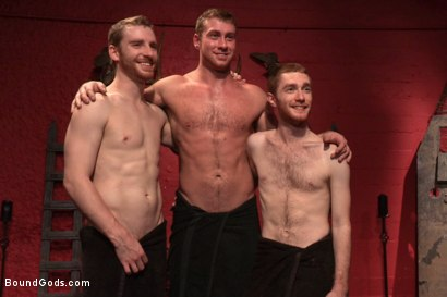Photo number 15 from The Three Red Heads - Live Show shot for Bound Gods on Kink.com. Featuring Van Darkholme, Seamus O'Reilly, Connor Maguire and Sebastian Keys in hardcore BDSM & Fetish porn.