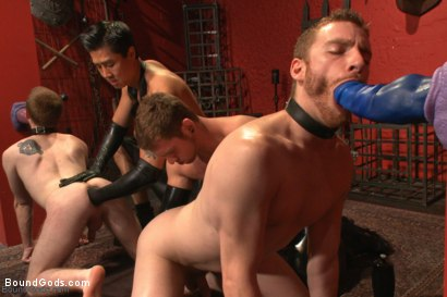 Photo number 9 from The Three Red Heads - Live Show shot for Bound Gods on Kink.com. Featuring Van Darkholme, Seamus O'Reilly, Connor Maguire and Sebastian Keys in hardcore BDSM & Fetish porn.
