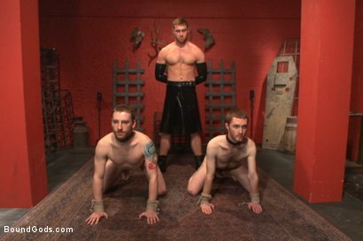 Photo number 1 from The Three Red Heads - Live Show shot for Bound Gods on Kink.com. Featuring Van Darkholme, Seamus O'Reilly, Connor Maguire and Sebastian Keys in hardcore BDSM & Fetish porn.