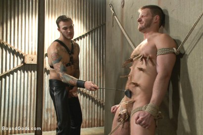 Photo number 11 from Are you ready to serve me today, boy? shot for Bound Gods on Kink.com. Featuring Christian Wilde and Brian Bonds in hardcore BDSM & Fetish porn.