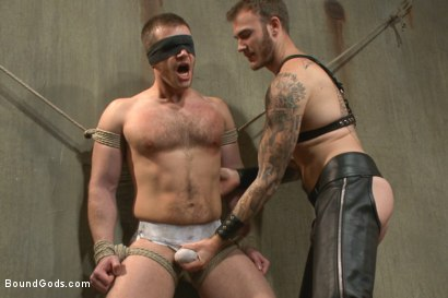 Photo number 2 from Are you ready to serve me today, boy? shot for Bound Gods on Kink.com. Featuring Christian Wilde and Brian Bonds in hardcore BDSM & Fetish porn.