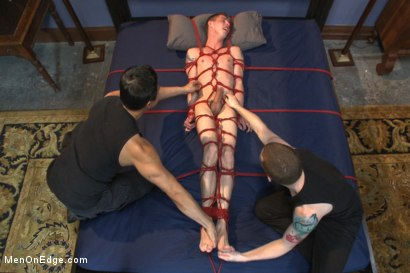 Photo number 13 from 20 year old with an enormous cock, begging to cum shot for Men On Edge on Kink.com. Featuring Sam Truitt in hardcore BDSM & Fetish porn.