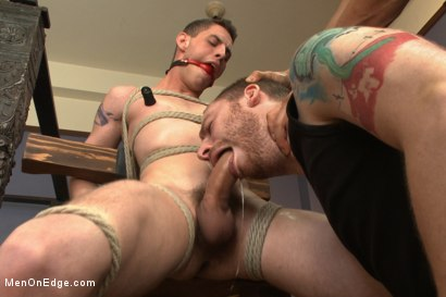 Photo number 8 from 20 year old with an enormous cock, begging to cum shot for Men On Edge on Kink.com. Featuring Sam Truitt in hardcore BDSM & Fetish porn.