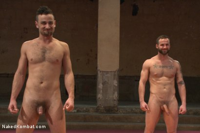 """Photo number 15 from Leon """"The Masticator"""" Fox vs Chris """"Mr Bad-Ass"""" Bines shot for nakedkombat on Kink.com. Featuring Chris Bines and Leon Fox in hardcore BDSM & Fetish porn."""