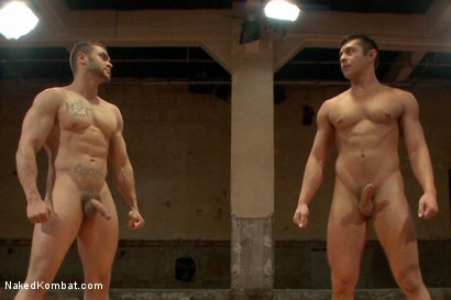 "Photo number 15 from Brock ""The Big Show"" Avery vs Seth ""The Tsunami"" Santoro shot for Naked Kombat on Kink.com. Featuring Brock Avery and Seth Santoro in hardcore BDSM & Fetish porn."