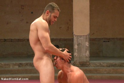 "Photo number 8 from Brock ""The Big Show"" Avery vs Seth ""The Tsunami"" Santoro shot for Naked Kombat on Kink.com. Featuring Brock Avery and Seth Santoro in hardcore BDSM & Fetish porn."