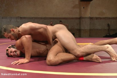 "Photo number 5 from Brock ""The Big Show"" Avery vs Seth ""The Tsunami"" Santoro shot for Naked Kombat on Kink.com. Featuring Brock Avery and Seth Santoro in hardcore BDSM & Fetish porn."