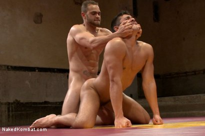 "Photo number 13 from Brock ""The Big Show"" Avery vs Seth ""The Tsunami"" Santoro shot for Naked Kombat on Kink.com. Featuring Brock Avery and Seth Santoro in hardcore BDSM & Fetish porn."