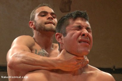 "Photo number 14 from Brock ""The Big Show"" Avery vs Seth ""The Tsunami"" Santoro shot for Naked Kombat on Kink.com. Featuring Brock Avery and Seth Santoro in hardcore BDSM & Fetish porn."