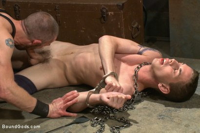 "Photo number 5 from ""Boy, it's not a costume... it's leather!"" shot for Bound Gods on Kink.com. Featuring Adam Herst and Sam Truitt in hardcore BDSM & Fetish porn."